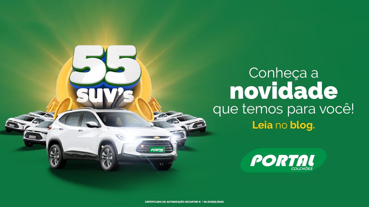 A Portal Colchões lança promoção que irá sortear 55 SUVs, confira.